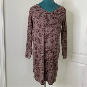 The Territory Ahead Dress Large Cotton Long Sleeve